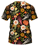Bones And Floral Elements T-Shirt