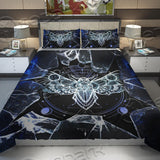 Gothic Death Moth Skull Bedding Set