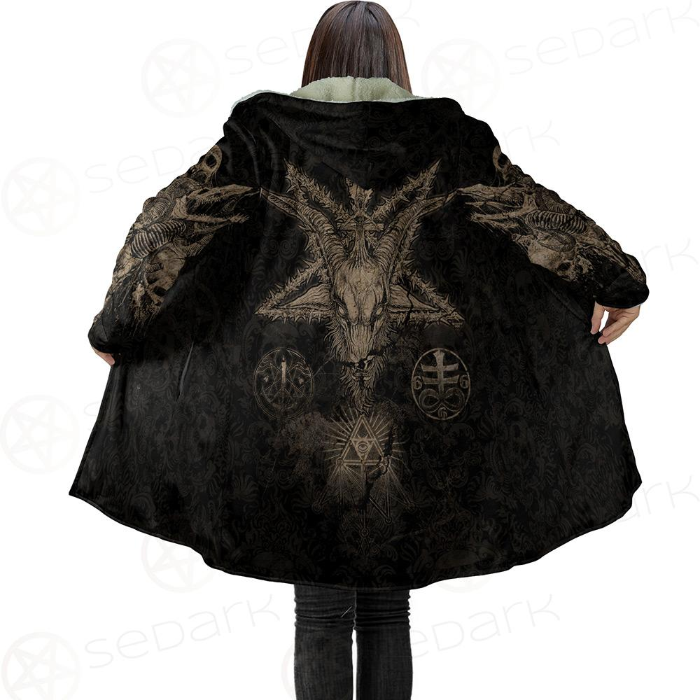 Baphomet Sigil Dream Cloak with bag