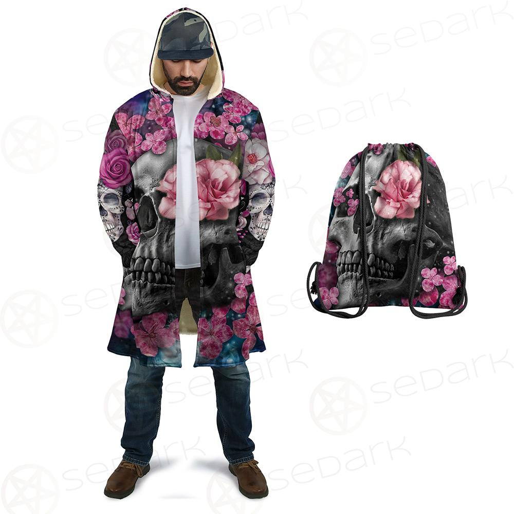 Skull Flower Cloak with bag
