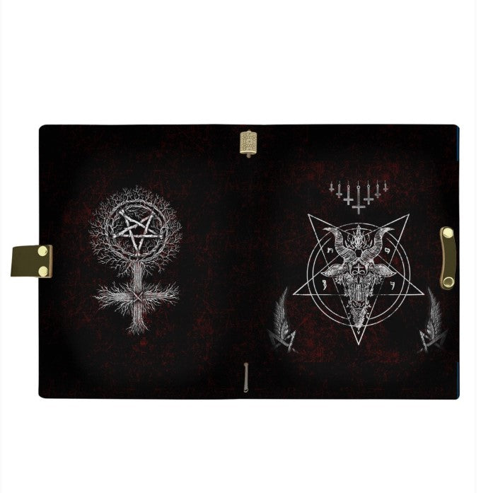 SATANIC 3 LEATHER NOTEBOOK - PASSPORT HOLDER - WALLET
