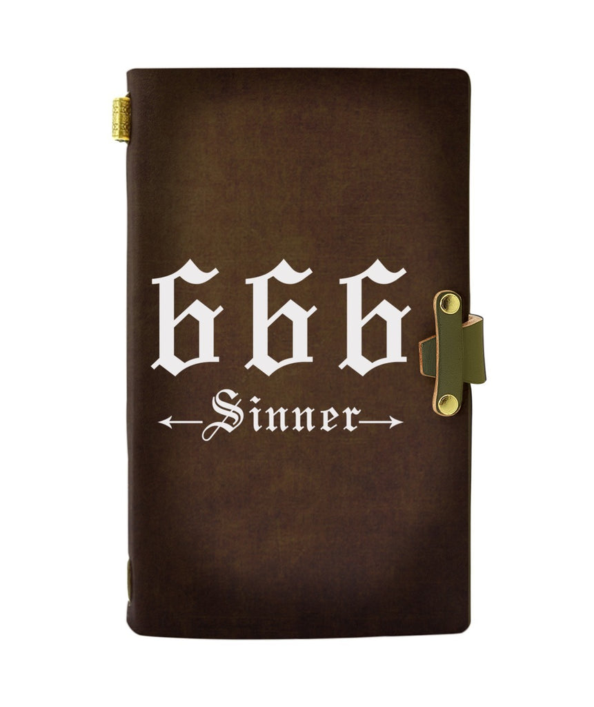 666 SINNER LEATHER NOTEBOOK - PASSPORT HOLDER - WALLET