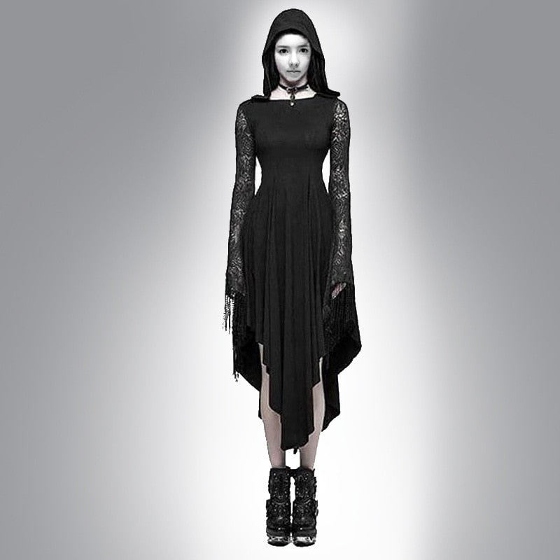 Spider Hollow Out Lace Dress