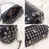 Punk Style Rivet Chain Shoulder Bag