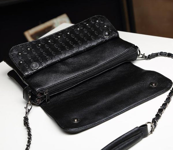 Skull Leather Luxury Shoulder Bag