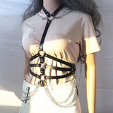 Gothic Circles Chain Waist Belt