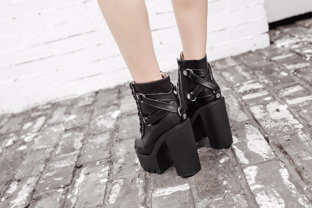 Ultra High Heel Gladiator Boot