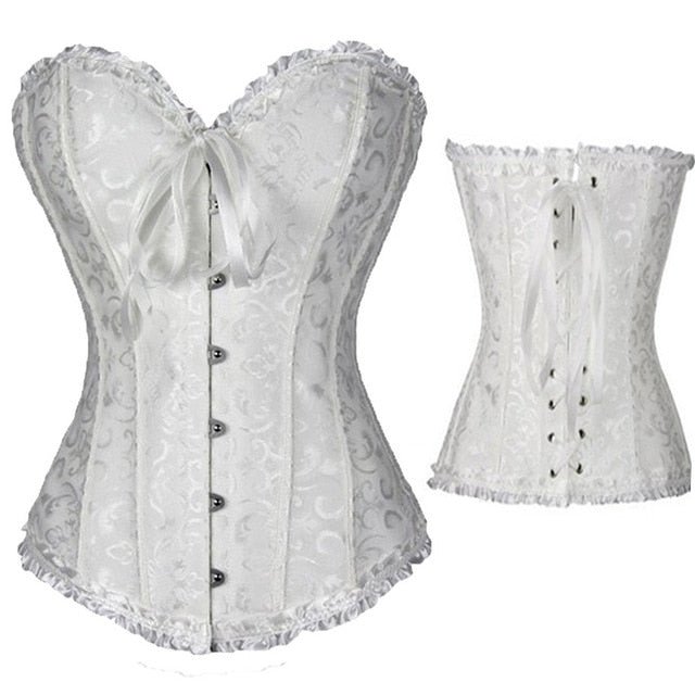 Waist slimming Corset Lace Up Sexy Boned