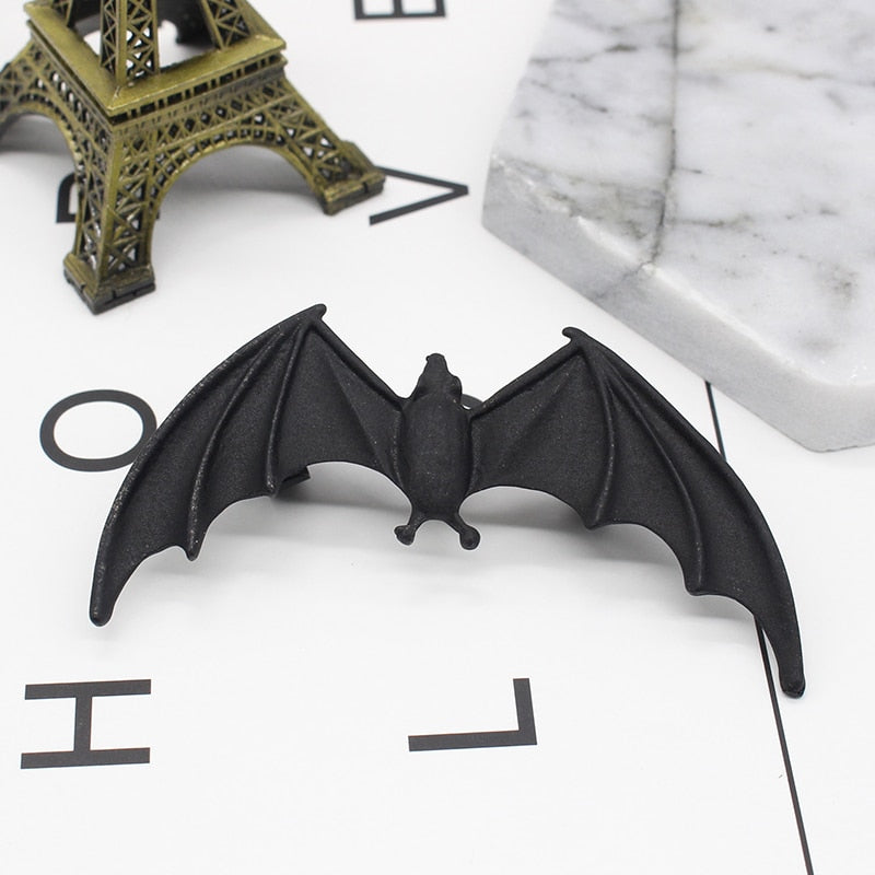 Gothic Punk Bat Earrings