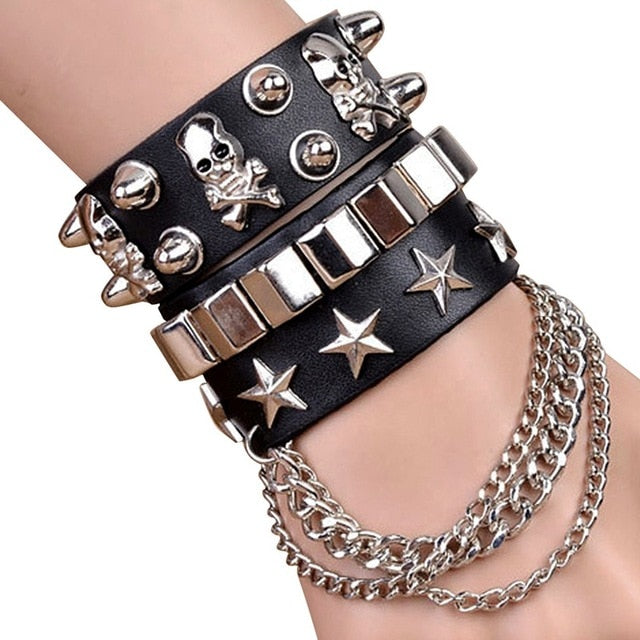 Pu Leather Harness Belt O-Ring Metal Chain Adjust