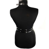 Women suspenders chest leather belt