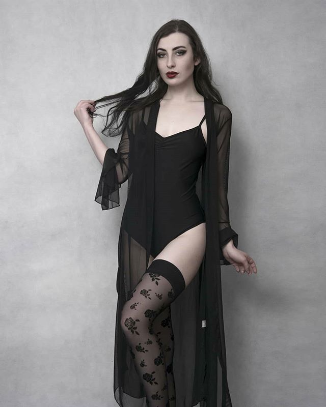 V-Neck Mesh See-Through Nightgowns