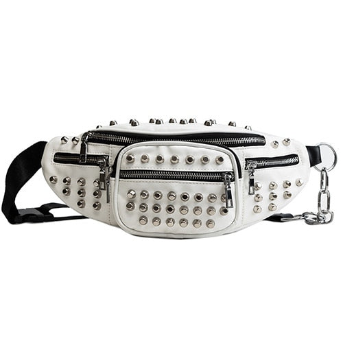 Rivets Waist Packs Rock Punk