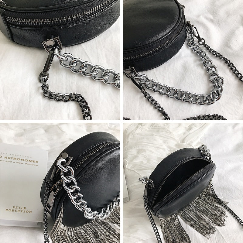 Leather Chain Women Crossbody Bag