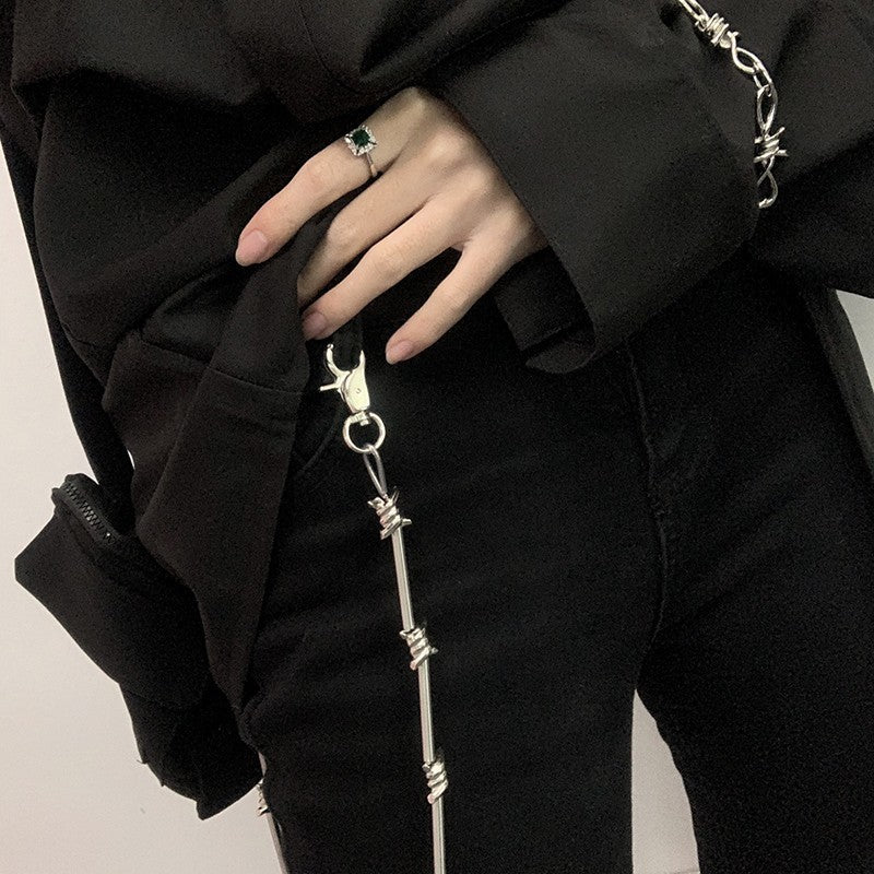 Punk Thorns Chain Pants Key