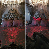 Satanic Bedding set - Red art