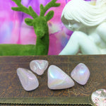 Angel Aura Rose Quartz Tumbled Stones