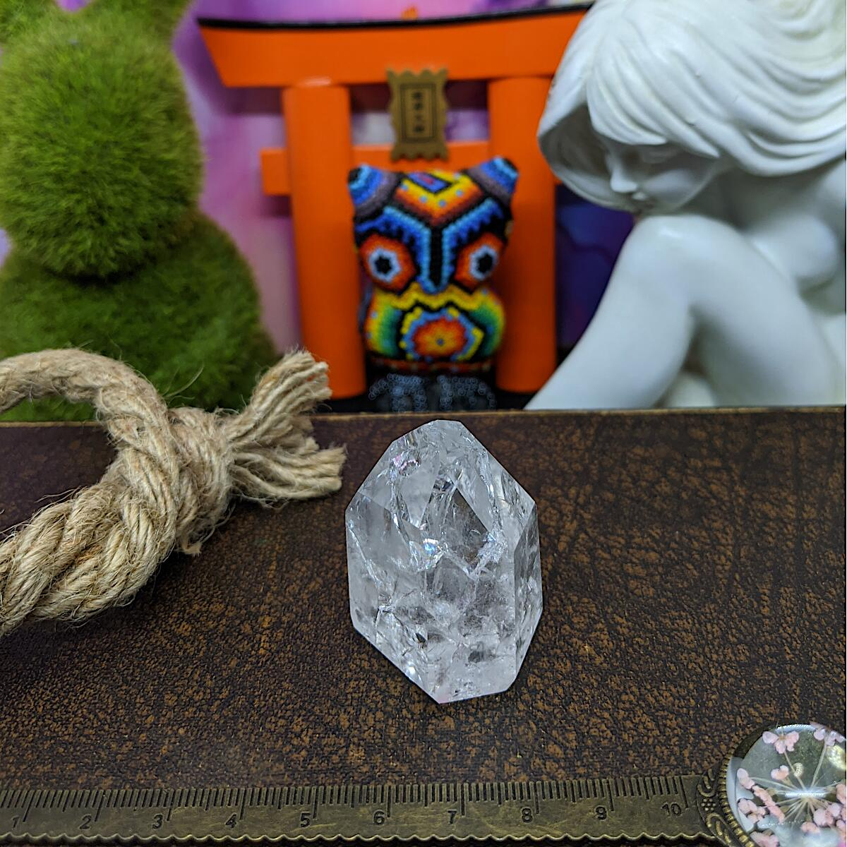 Crackle/ Fire & Ice Quartz Point | Mini.