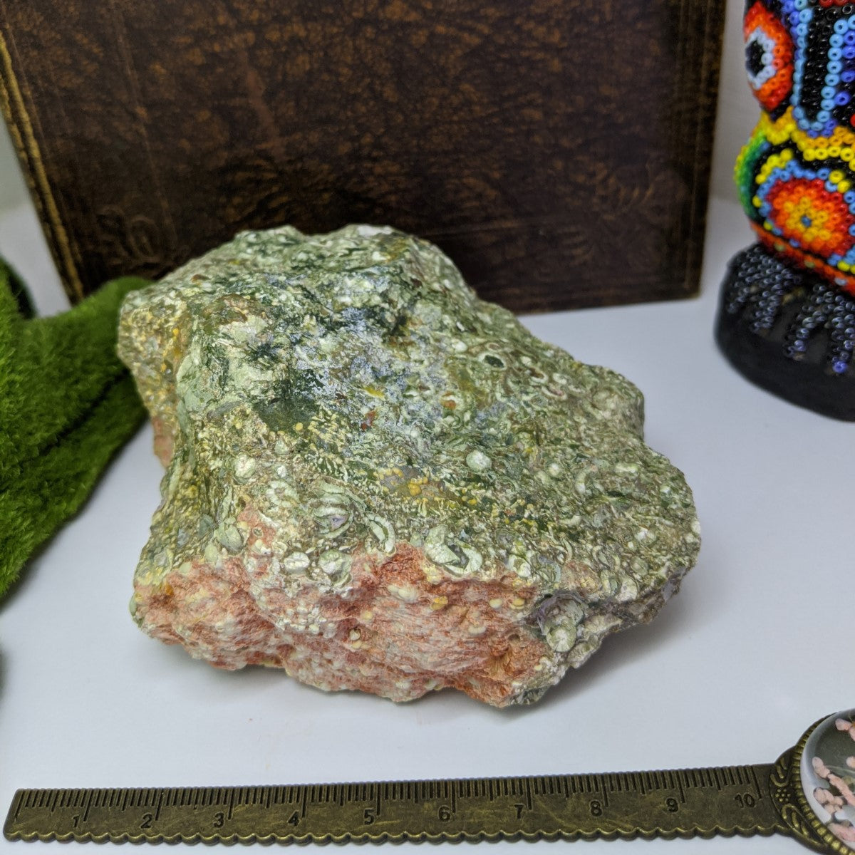 Rhyolite Rainforest Jasper Chunk Raw.