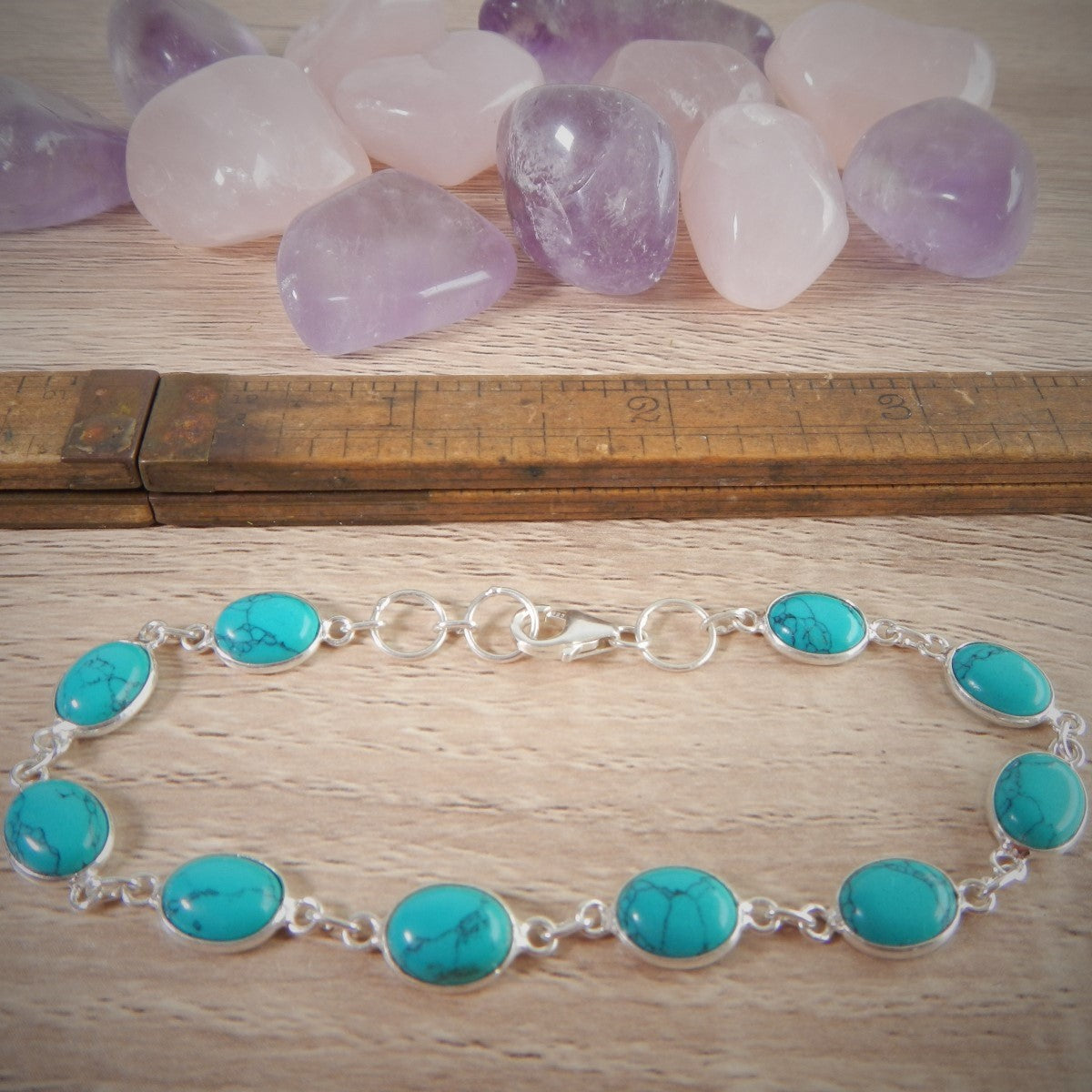 Turquoise & 925 Sterling Silver Bracelet.