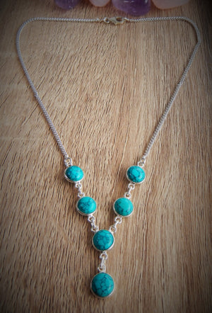 Turquoise & 925 Sterling Silver Necklace