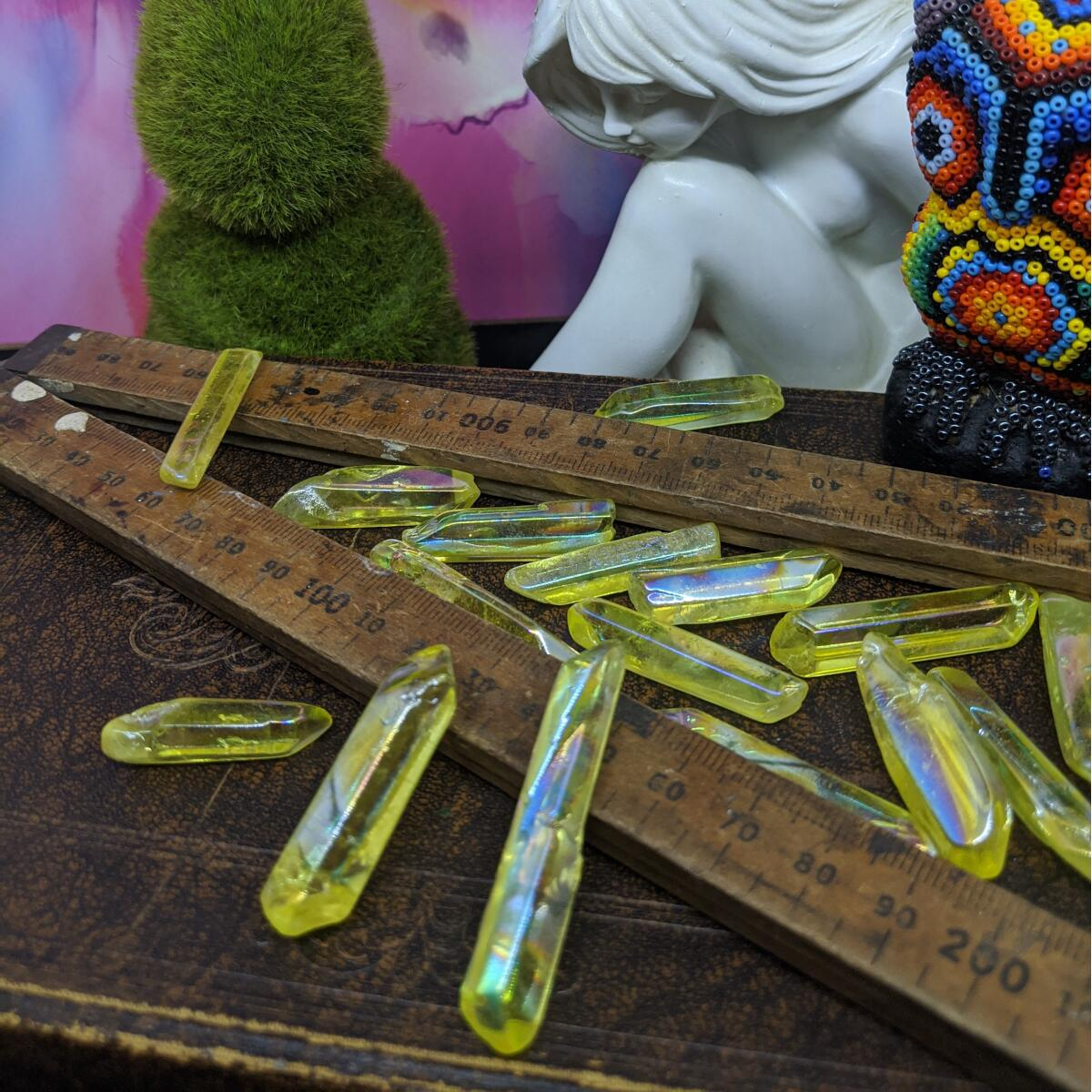 Yellow Aura Quartz Pieces | Small.