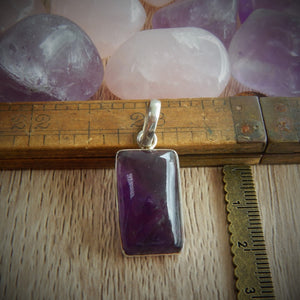 Amethyst & 925 Sterling Silver Pendant