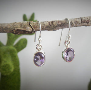 Amethyst & 925 Sterling Silver Earrings