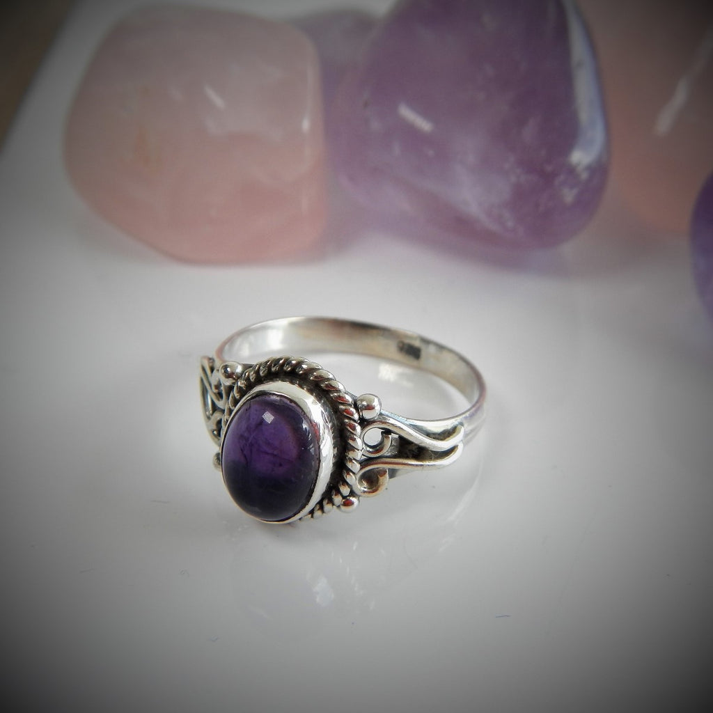 Size 7 Sterling Silver & Gem Stone Rings