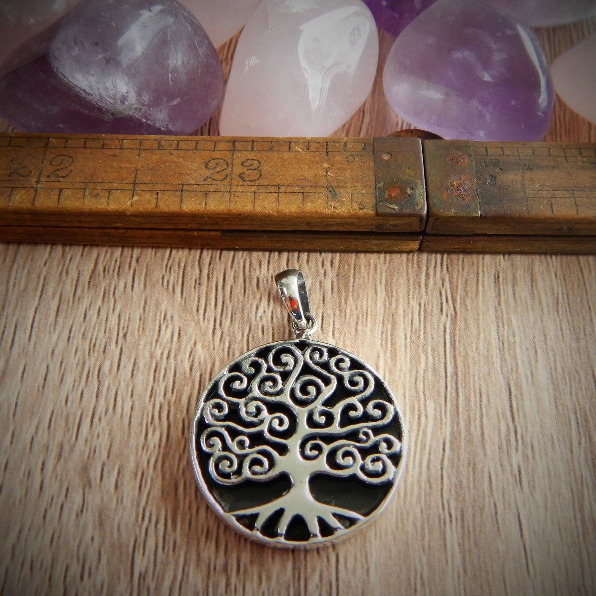 Black Onyx & 925 Sterling Silver Pendant.