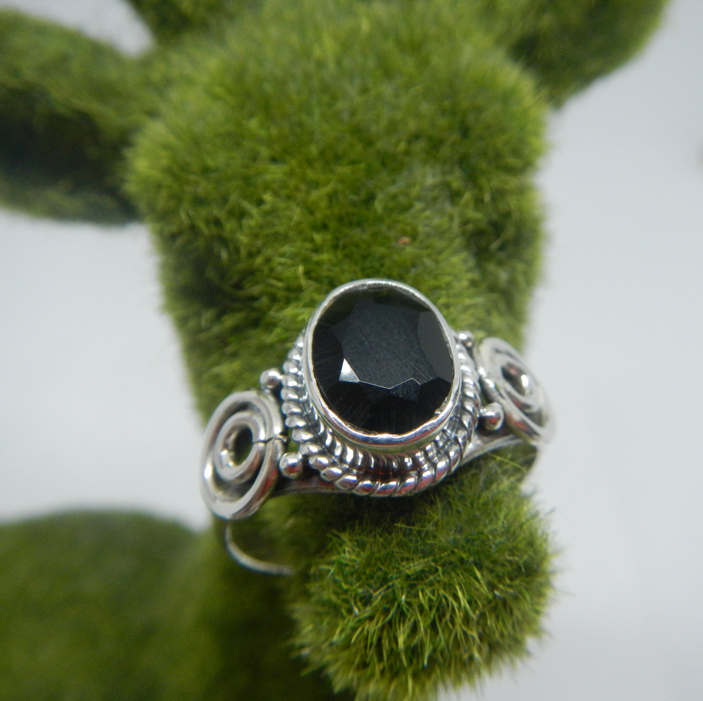 Size 10 Sterling Silver & Gem Stone Ring