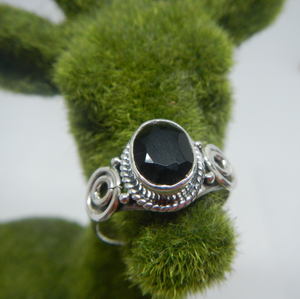 Size 10 925 Sterling Silver & Gem Stone Ring