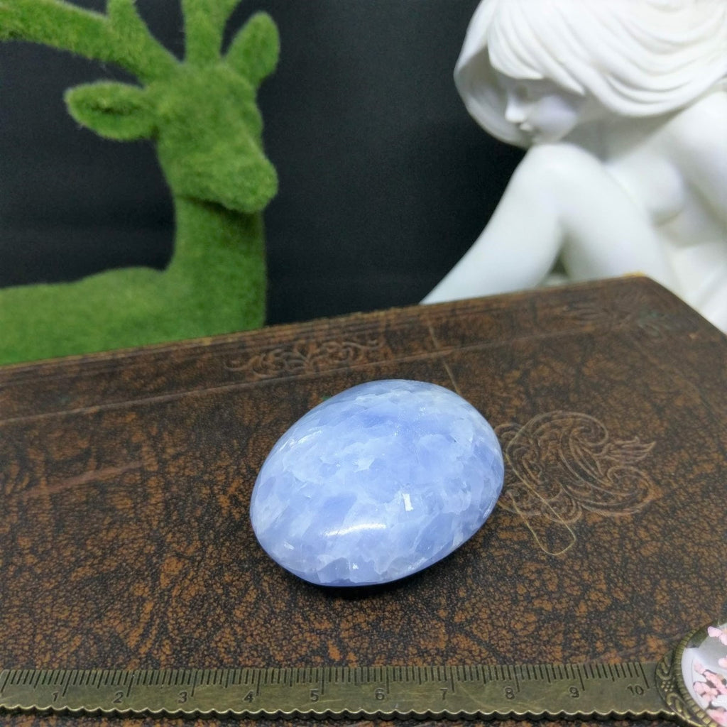 Blue Calcite Palm Stone/ Soap  #306