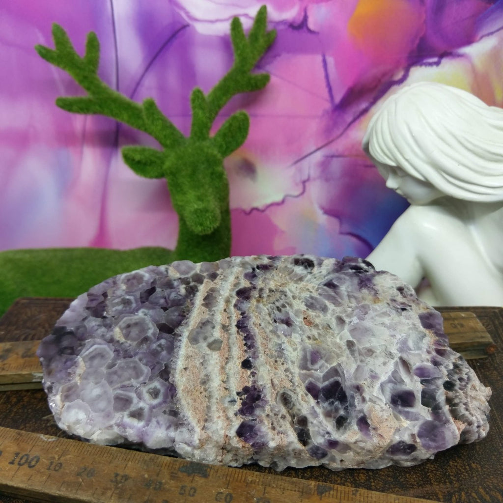 Chevron Amethyst Slice / Slab