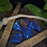 Electric Blue Titanium Aura Quartz - Small