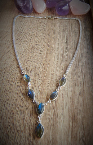Labradorite & 925 Sterling Silver Necklace