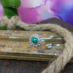 Size 6 - Malachite & 925 Sterling Silver Ring