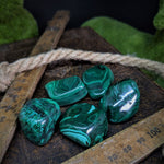 Malachite Tumble Stones - Medium