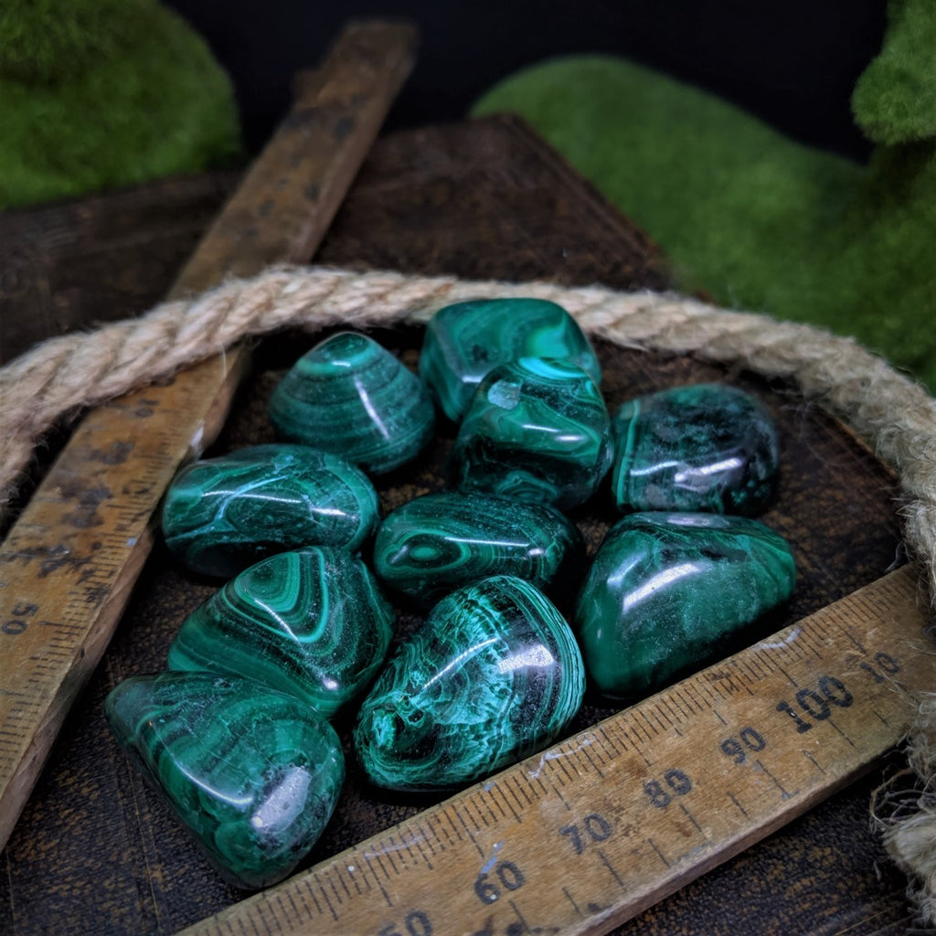 Malachite Tumble Stones - Small