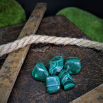 Malachite Tumble Stones - Teeny