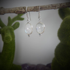Moonstone & 925 Sterling Silver Earrings
