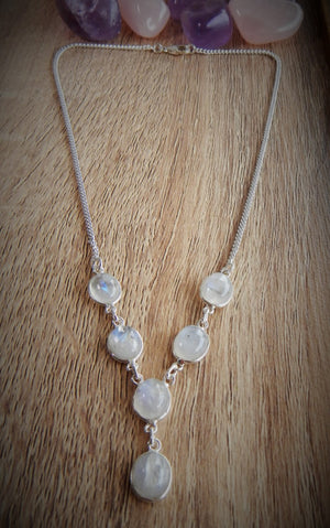Moonstone & 925 Sterling Silver Necklace