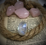 Size 8 Moonstone & Sterling Silver Ring #48