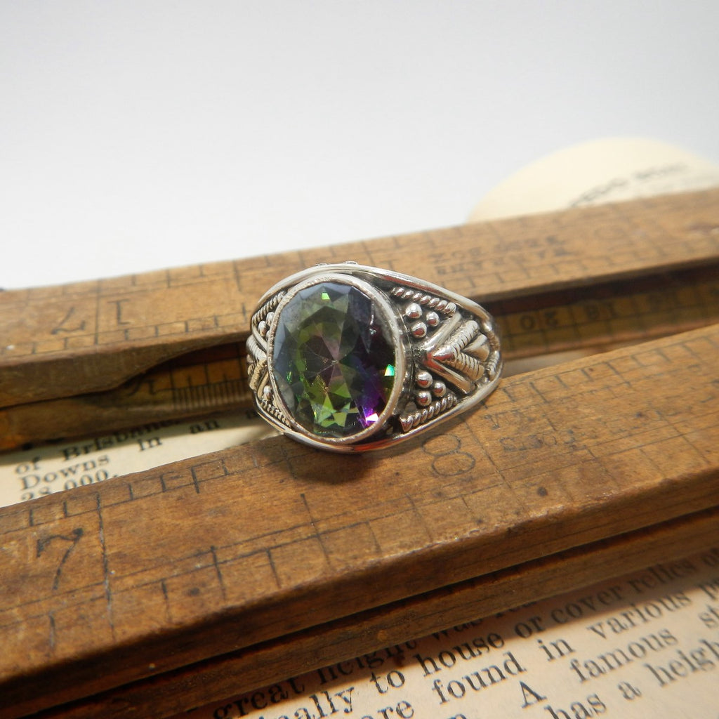 Size 8 Mystic Topaz & Sterling Silver Ring #12