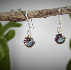 Mystical Topaz & 925 Sterling Silver Earrings