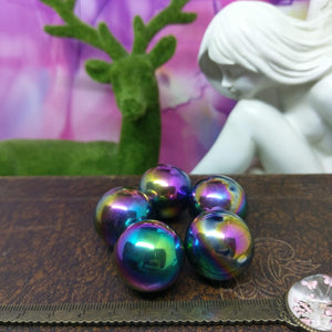 Rainbow Hematite Magnetic Sphere