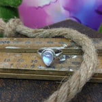 Size 7 Moonstone & Sterling Silver Ring #151