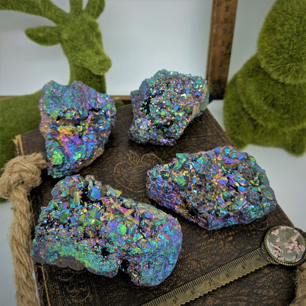 Rainbow Titanium Aura Quartz - Large