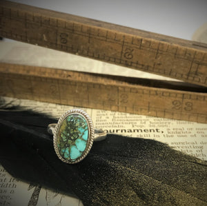 Size 7 Turquoise & 925 Sterling Silver Ring