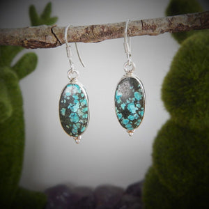 Turquoise & 925 Sterling Silver Earrings